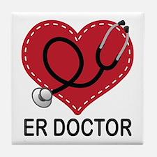 ER Doctor Tile Coaster