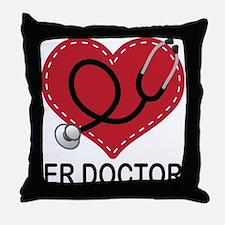 ER Doctor Throw Pillow