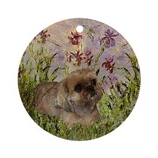 Shih Tzu Fine Art Sandy Ornament (Round)