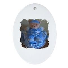 BEAR BUDDY Oval Ornament
