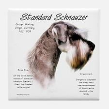 Standard Schnauzer Tile Coaster