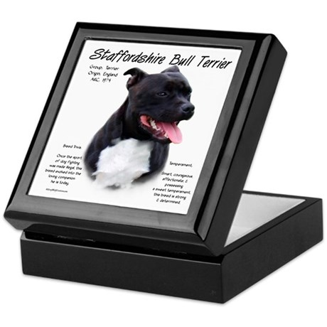 Staffordshire Bull Keepsake Box