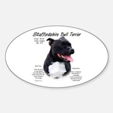 Staffordshire Bull Oval Decal