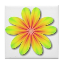 Psychedelic Flower Power 70s Tile Coaster