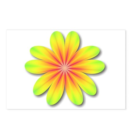Psychedelic Flower Power 70s Postcards (Package of