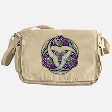 Celtic Triple Crescents - Purple Messenger Bag