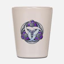 Celtic Triple Crescents - Purple Shot Glass