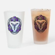 Celtic Triple Crescents - Purple Drinking Glass