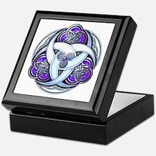 Celtic Triple Crescents - Purple Keepsake Box