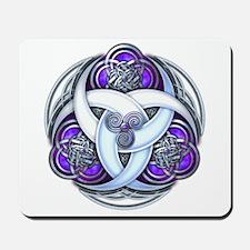 Celtic Triple Crescents - Purple Mousepad
