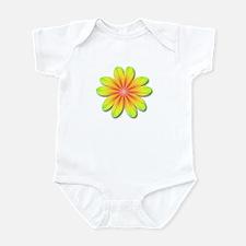 Psychedelic Flower Power 70s Infant Bodysuit