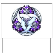 Celtic Triple Crescents - Purple Yard Sign