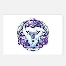Celtic Triple Crescents - Purple Postcards (Packag