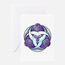 Celtic Triple Crescents - Purple Greeting Card