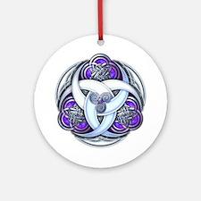 Celtic Triple Crescents - Purple Ornament (Round)