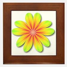 Psychedelic Flower Power 70s Framed Tile
