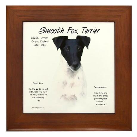 Smooth Fox Terrier Framed Tile