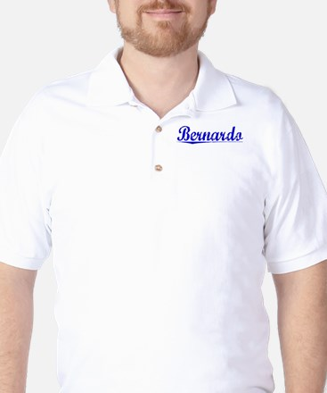 Bernardo, Blue, Aged Golf Shirt
