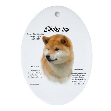 Shiba Inu Oval Ornament