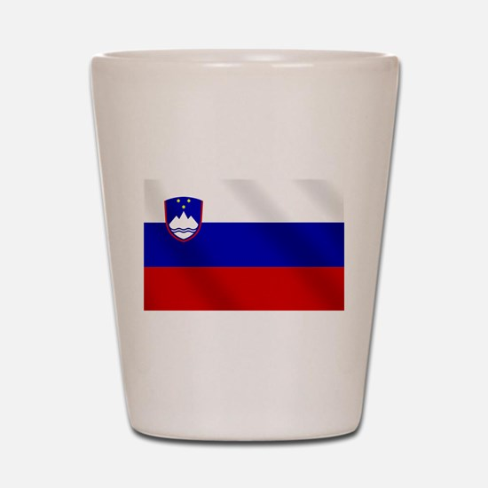 Flag of Slovenia Shot Glass