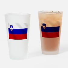 Flag of Slovenia Drinking Glass