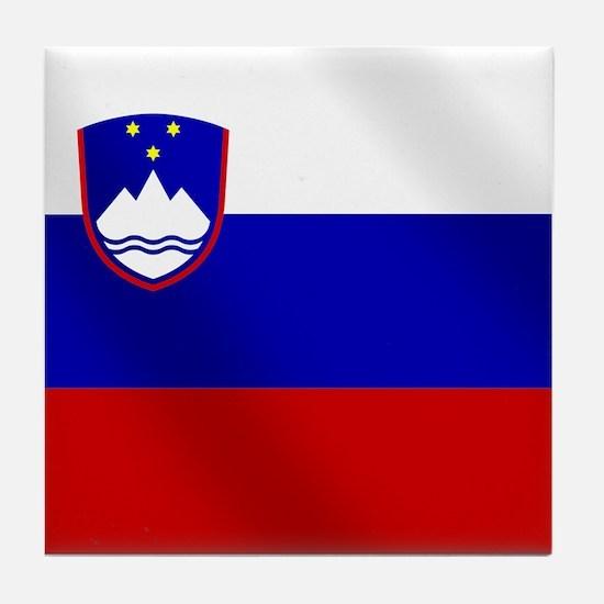 Flag of Slovenia Tile Coaster