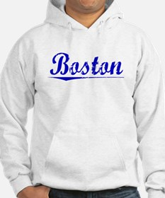 Boston, Blue, Aged Jumper Hoody