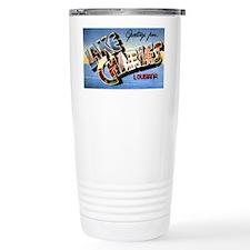 Lake Charles Louisiana Greetings Travel Mug