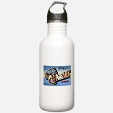 Lake Charles Louisiana Greetings Water Bottle