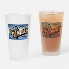 Lake Charles Louisiana Greetings Drinking Glass