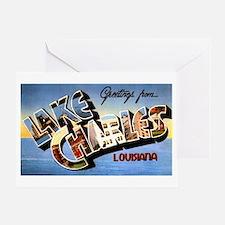 Lake Charles Louisiana Greetings Greeting Card