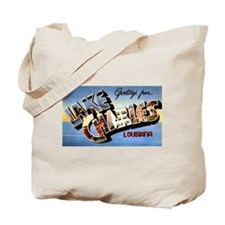 Lake Charles Louisiana Greetings Tote Bag