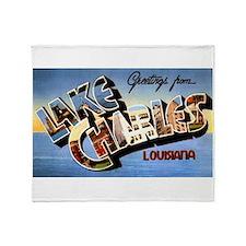 Lake Charles Louisiana Greetings Throw Blanket
