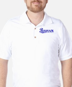 Bowser, Blue, Aged Golf Shirt