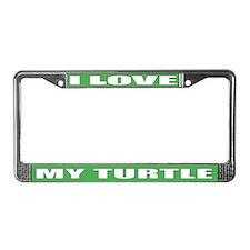 Turtle Lover License Plate Frame