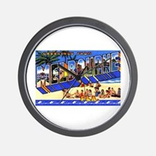 Melbourne Florida Greetings Wall Clock