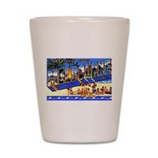 Melbourne Florida Greetings Shot Glass
