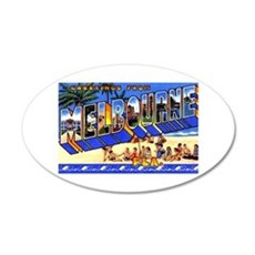 Melbourne Florida Greetings 20x12 Oval Wall Decal