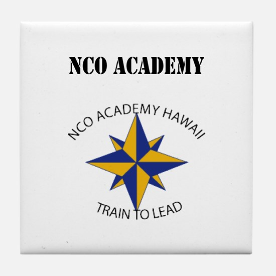 NCO Academy with Text Tile Coaster