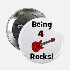 Being 4 Rocks! Guitar Button
