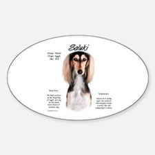 Saluki Oval Decal