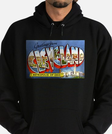 Cleveland Ohio Greetings Hoodie (dark)