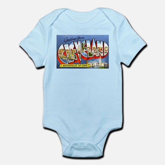 Cleveland Ohio Greetings Infant Bodysuit