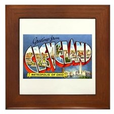 Cleveland Ohio Greetings Framed Tile