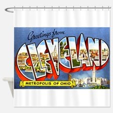 Cleveland Ohio Greetings Shower Curtain