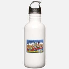 Cleveland Ohio Greetings Water Bottle