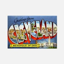Cleveland Ohio Greetings Rectangle Magnet (100 pac