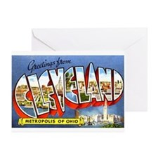 Cleveland Ohio Greetings Greeting Cards (Pk of 10)
