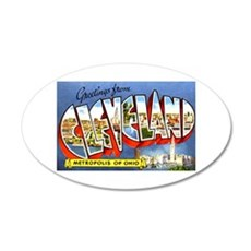 Cleveland Ohio Greetings Wall Decal
