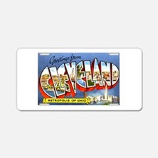 Cleveland Ohio Greetings Aluminum License Plate